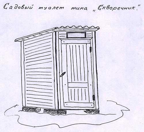 Туалет на садовом участке Садовый туалет типа Скворечник