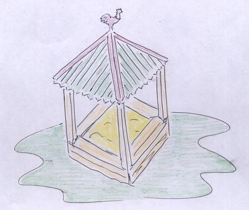 Песочница детская на садовом